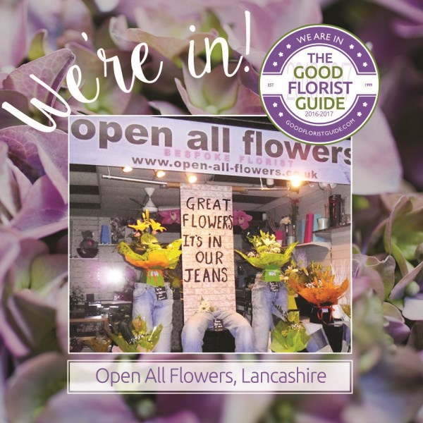 Open all flowers - good florist guide accredited
